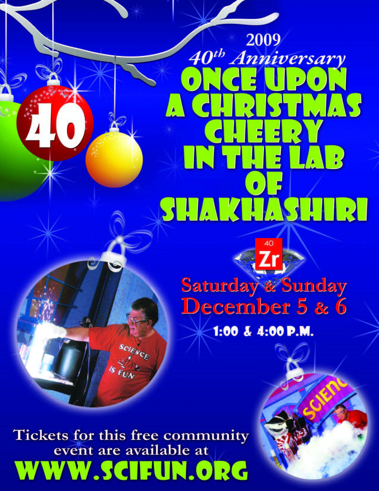 Once Upon A Christmas Cheery In The Lab Of Shakhashiri 2020 The 40th Anniversary of ONCE UPON A CHRISTMAS CHEERY IN THE LAB OF