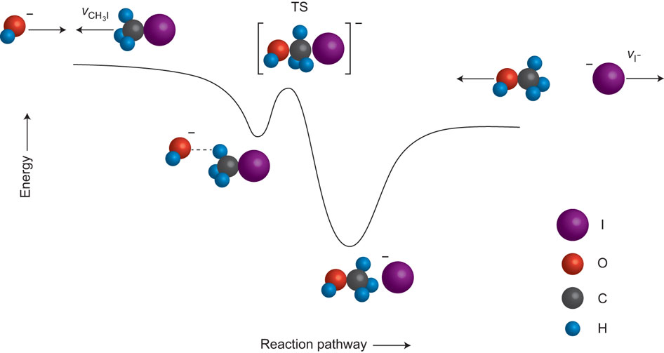 Figure 1 from Orr-Ewing, A.J. Reaction Mechanisms: Stripping down SN2. Nature Chem., 2012, 4, 522-523.