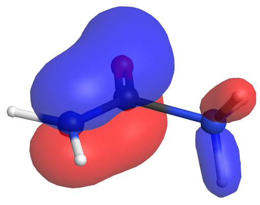 N-protonated urea pi1 orbital