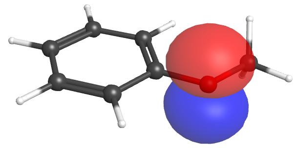 anisole O-atom lone pair