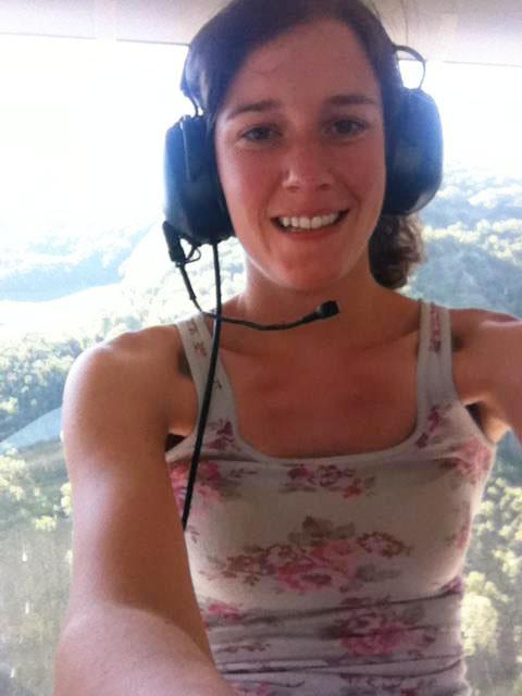 Jen Kaiser onboard the Zeppelin