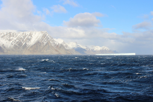 A North Atlantic view from a research vessel used to help study the ocean-air boundary.