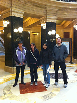 PGSEC students visit the State Capitol
