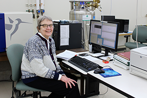 Dr. Martha Vestling, director of the UW-Madison Department of Chemistry Mass Spectrometry Laboratory